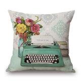 Cassa stampata Digitahi di tela del cuscino di manovella del cotone domestico della decorazione (35C0066)