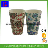 Bambusfaser-glückliche Leben-Pflanzenfaser-Cup und Becher