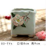 ホームおよび庭の販売のための装飾によって艶をかけられる陶磁器の植木鉢