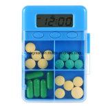 Pocket mini elektronischer Anzeigen-Medizin-Timer-Alarm-Minitablette-Pille-Kasten