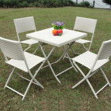 Patio Leisuure Dining Furniture Rattan Aluminium Metal Hotel Bistro Folding Chair