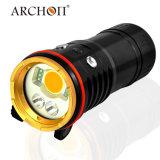 Il tuffo ricaricabile di arconte 5200lm illumina la torcia elettrica d'immersione 100m Underwater impermeabile LED