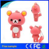 Водитель флэш-память USB PVC медведя шаржа OEM