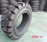 Facile-Ajuster les pneus solides 6.50-10, pneus solides de chariot élévateur de chariot gerbeur de Linde 650-10