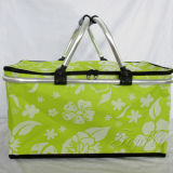 Folded Shopping Cooler Basket Adequado para piquenique e promocional