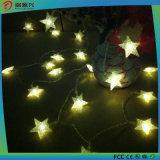 クリスマスの装飾的な太陽ストリングは星形LED太陽ライトをつける