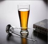 La glace sans plomb 290ml de bière en verre de cuvette de cuvette à extrémité élevé de jus de fruits