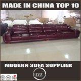 Ledernes Ecksofa-spezifisches Gebrauch-Wohnzimmer-Sofa