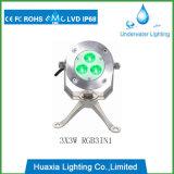 9watt 316 스테인리스 LED 수중 수영장 전등 설비
