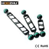 Hoozhu S24 7inchのダイビングのビデオライトのための二重球ヘッドサポート