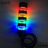 Lumière de tour de signal empilée par quatre modulaires compacts détachable