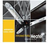 Calefator radiante do calefator infravermelho do pátio montado sob o telhado ou o pára-sol