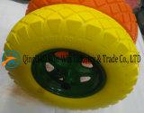 4.00-8/400-8 Rotella di vagone solida della gomma piuma dell'unità di elaborazione