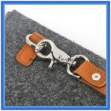 Junge-Entwurf kundenspezifischer Wolle-Filz-Aktenkoffer-Beutel, heiße Förderung-Handbeutel mit PU-Leder-Griff