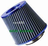 Filtros universais cromados do elemento de líquido de limpeza de ar da garganta do filtro de ar azul 3 '' 76mm