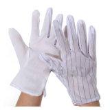 Противостатическая покрынная PU перчатка работы, перчатки Cleanroom ESD поставленные точки PVC