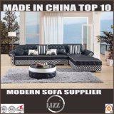 Sofa 2017 en cuir moderne de Divany pour les meubles de salle de séjour (LZ069)