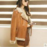 Тип краткости пальто Shearling женщин способа