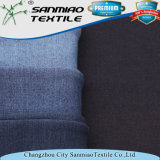 Пряжа сини индига покрасила ткань джинсовой ткани Knit бархата Spandex