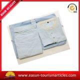 Peignoir/pyjama/chemises de nuit promotionnels de coton, pyjamas bon marché de ligne aérienne
