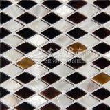 Mosaico de agua dulce del Rhombus del shell y del shell de la pluma