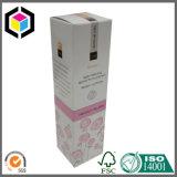 Rectángulo de empaquetado de papel de la cartulina de la botella de la loción del cuarto de baño