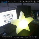 PE recargable cambio de color de la estrella del LED lámpara decorativa