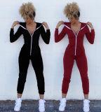 Form-unbelegte Baumwolle Hoodies für Frauen-Kleidung Sportwear (R)