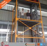 Bon table élévatrice utilisée d'ascenseur de fret ferroviaire de guide de levage hydraulique des prix par entrepôt