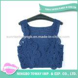 Casaco de lã por atacado que tricota manualmente a camisola do bebê do algodão de lãs