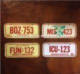 Targhe di immatricolazione decorative riflettenti del metallo, piatto decorativo su ordinazione dell'automobile