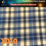 在庫の商品! ポリエステル陽イオンの小切手ファブリック(X008-10)