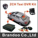 バスタクシーおよび自家用車2CH D1のリアルタイムのチャネルSDのカードDVR