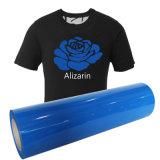 Hellblaues waschbares und elastisches PU-Flexvinyl für T-Shirt