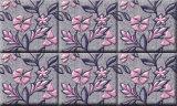 2017 papier peint chaud de la vente 1.06*15m Corée, papier de mur noir de fleur de damassé