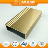 6061 6063 perfis de alumínio da extrusão para o indicador de alumínio/porta, uso da parede de cortina com TUV/Ce