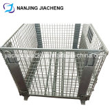 Cage en acier soudée rigide de mémoire pliable et empilable par galvanisé