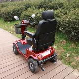 """""""trotinette"""" elétrico da mobilidade das rodas da pessoa idosa quatro com controlador da página"""