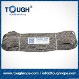 Fibra 100% resistente de Uhwmpe da corda da corda sintética cinzenta do guincho da cor 11.5mmx28m4X4