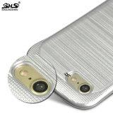 Cassa molle spazzolata metallo del telefono delle cellule di effetto TPU di Shs per il caso di iPhone 7
