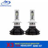 Lampadine del faro della lampadina del LED 50W 6000lm Philips X3 H7 LED per l'indicatore luminoso 6000k della testa dell'automobile