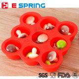 赤ん坊の挿入のための9つのキャビティアイスボール型のシリコーンの食糧ボックス