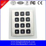 Stailess Stahlhintergrundbeleuchtung-Tastaturblock mit Verbinder Pin-10