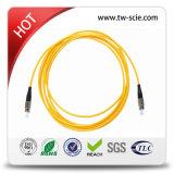 LC/APC - Sc/APC -의 노란 섬유 패치 케이블 Sm - Sx-3.0mm-5mtrs-Ofnp 칼집