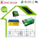 Sistema solar híbrido solar do jogo 2kw do painel com inversor híbrido