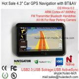 """Navegador potable con Bluetooth, transmisor de FM, Tmc, función del GPS de la rociada del nuevo """" coche 4.3 de ISDB-T TV, Sistema de pesos-en para cámara del estacionamiento, correspondencia con la cámara GPS-4313 de la velocidad"""