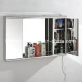 Шкаф зеркала ванной комнаты нержавеющей стали с светом 7006