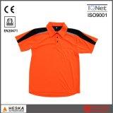 Korte Koker 100% van de douane het Overhemd van het Polo van Mens van de Veiligheid van de Polyester