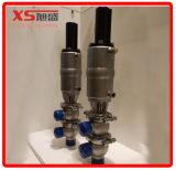 Dn65 Acero inoxidable sanitario doble asiento mezcla de prueba de válvula con C-Top