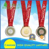 Поставкы изготовления подгоняли талреп тесемки сублимации для держателя золотой медали спорта